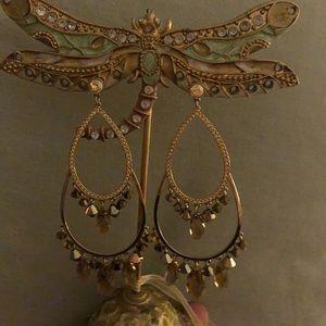Swarovski gold chandelier earrings. Never worn.